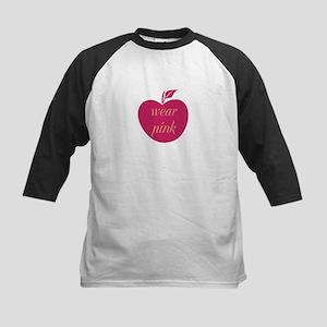 Cute Wear Pink Apple Baseball Jersey