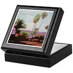 La Jolla Cove Palms Tile Box