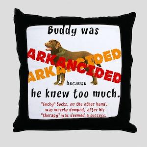 Buddy Arkancided Throw Pillow