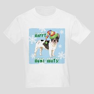 Holiday French Bulldog Kids Light T-Shirt