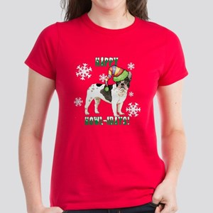 Holiday French Bulldog Women's Dark T-Shirt