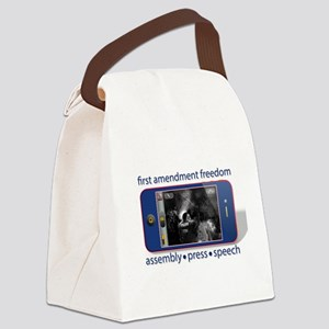 1st Amendment Freedoms Canvas Lunch Bag