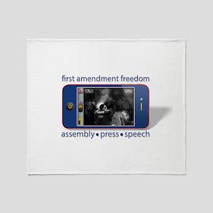 1st Amendment Freedoms Throw Blanket