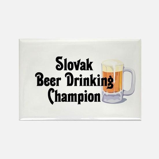 Slovak Beer Drinking Champion Rectangle Magnet