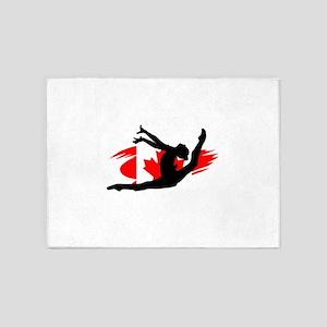 Canadian Gymnast 5'x7'Area Rug