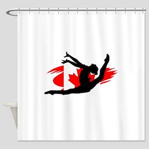 Canadian Gymnast Shower Curtain