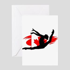 Canadian Gymnast Greeting Cards