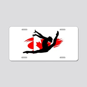 Canadian Gymnast Aluminum License Plate