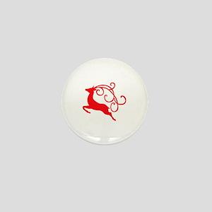 Xmas Reindeer Mini Button