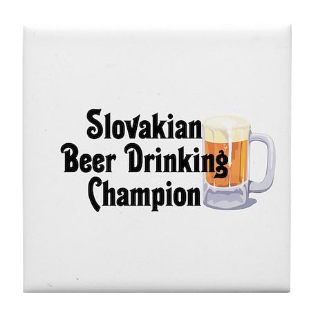 Slovakian Beer Drinking Champ Tile Coaster