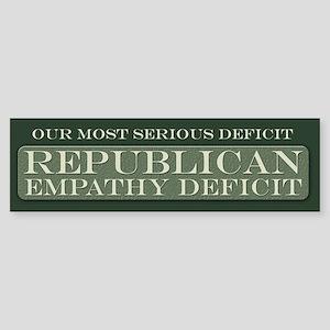 GOP Empathy Deficit Bumper Sticker