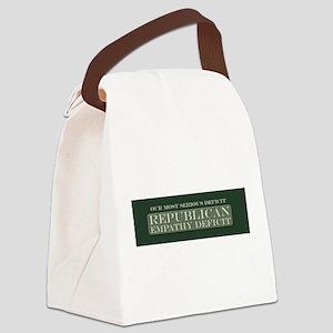 GOP Empathy Deficit Canvas Lunch Bag
