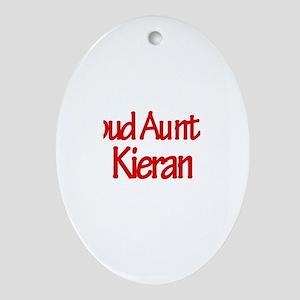 Proud Aunt of Kieran Oval Ornament