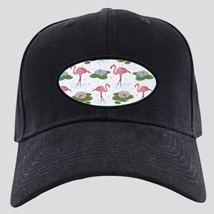Flamingoes and Water Lilies Black Cap