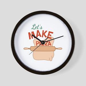 Lets Make Pizza Wall Clock