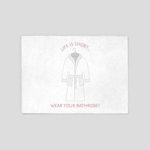 Wear Bathrobe 5'x7'Area Rug
