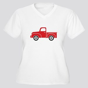 0848672e6db Red Truck Women s Plus Size T-Shirts - CafePress