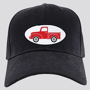 Vintage Red Truck Black Cap with Patch
