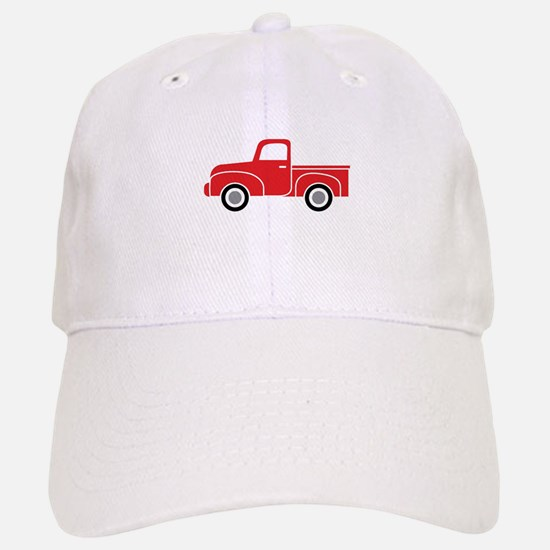 Vintage Red Truck Baseball Baseball Cap