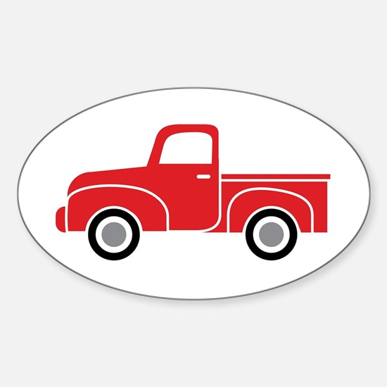 Vintage Red Truck Decal