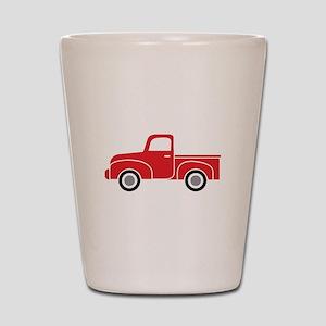 Vintage Red Truck Shot Glass