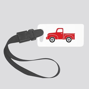 Vintage Red Truck Small Luggage Tag