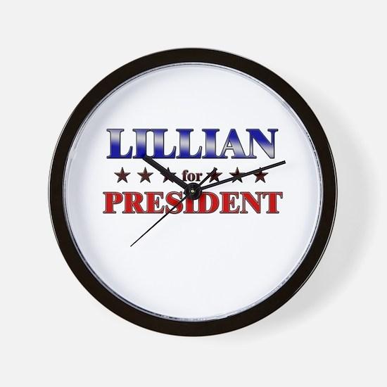 LILLIAN for president Wall Clock