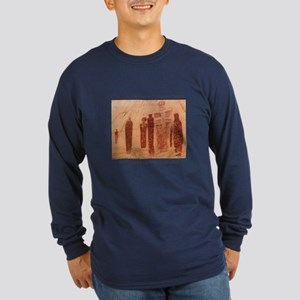 Great Gallery Pictographs Long Sleeve Dark T-Shirt