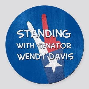 Standing with Wendy Round Car Magnet