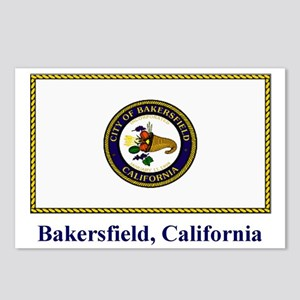Bakersfield CA Flag Postcards (Package of 8)