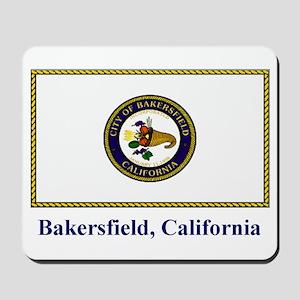 Bakersfield CA Flag Mousepad