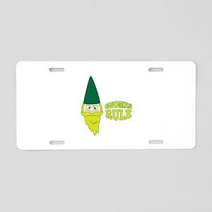 Gnomes Rule Aluminum License Plate