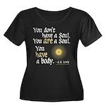 CS Lewis Soul-Body Quote Women's Plus Size Scoop N