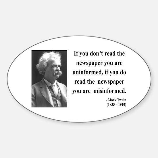 Mark Twain 40 Oval Decal