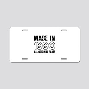 Made In 1990 Aluminum License Plate