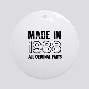 Made In 1988 Round Ornament