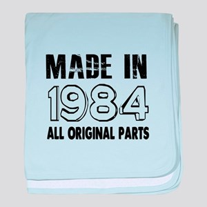 Made In 1984 baby blanket