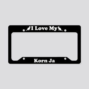 I Love My Korn Ja Cat License Plate Holder