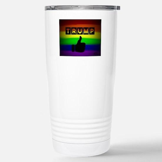 Trump gay rainbow art Stainless Steel Travel Mug