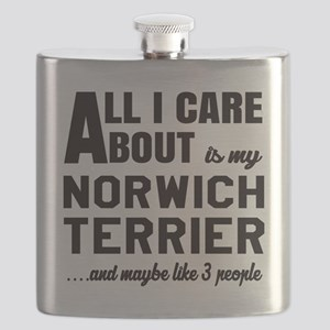 All I care about is my Norwich Terrier Dog Flask