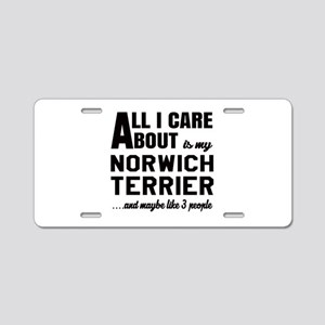 All I care about is my Norw Aluminum License Plate