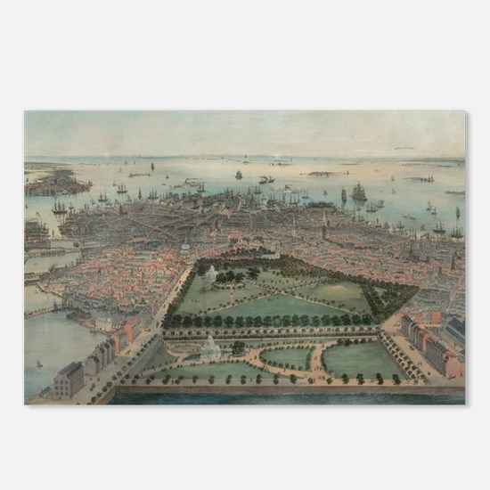 Cool Vintage boston Postcards (Package of 8)
