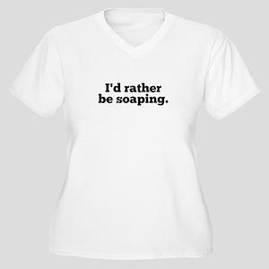 I'd Rather Be Soa Women's Plus Size V-Neck T-Shirt