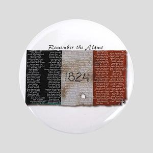 """Remember the Alamo 3.5"""" Button"""