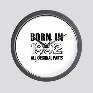 Born In 1992 Wall Clock