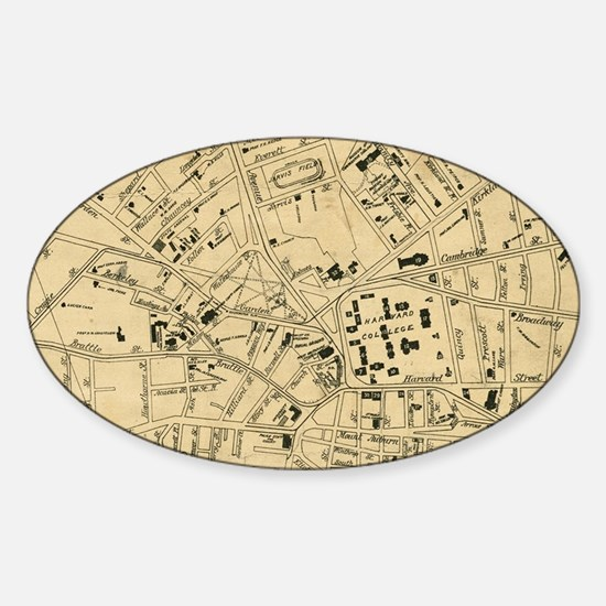Cute Cambridge massachusetts Sticker (Oval)