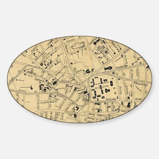 Cool Cambridge Sticker (Oval)