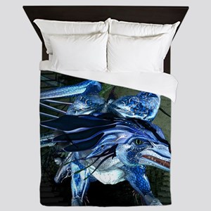 Awesome dragon Queen Duvet