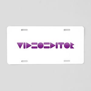 Avid Video Editor - Aluminum License Plate