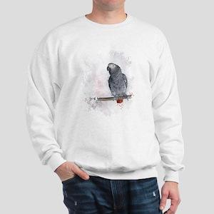 Watercolor African Grey Parrot Sweatshirt